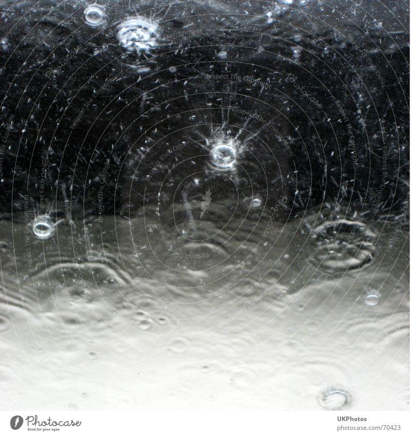 Regentropfen Wasser Wellen Hintergrundbild Wetter Wassertropfen nass