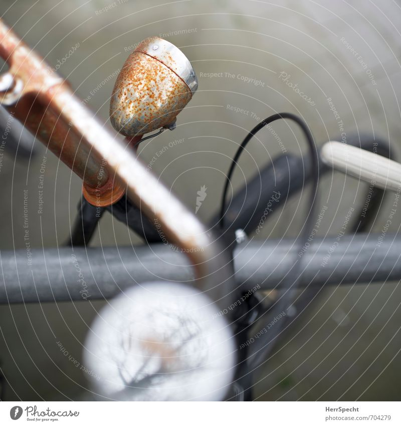Radl | Details alt Stadt grau braun Metall Fahrrad Vergänglichkeit retro Fahrradfahren Rost Fahrzeug trashig Nostalgie parken Personenverkehr Scheinwerfer