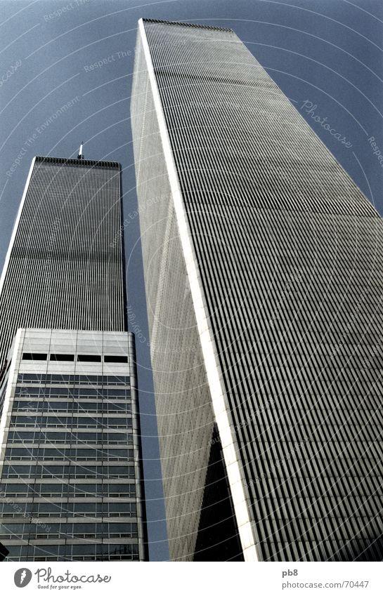 before Himmel Stadt Gebäude hoch Fassade USA New York City Erinnerung Manhattan World Trade Center