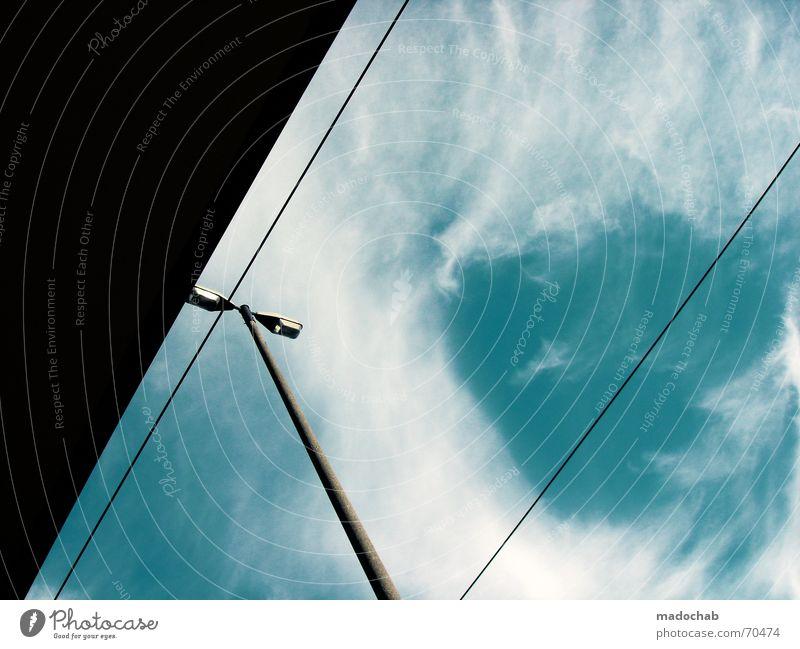 I LOVE IT  himmel wolken clouds energie form laterne grafik Himmel blau Wolken Stil Freiheit fliegen oben Wetter Schönes Wetter Grafik u. Illustration