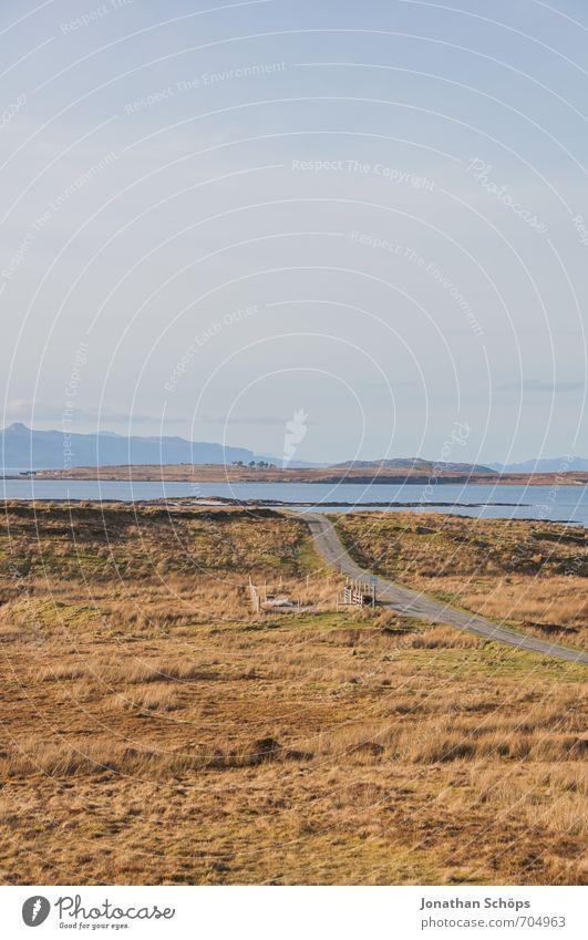 Isle of Skye II Himmel Natur Ferien & Urlaub & Reisen Landschaft ruhig Umwelt Berge u. Gebirge Reisefotografie Wege & Pfade Küste natürlich Feld Idylle wandern