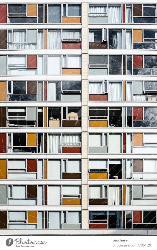 Fleckerlteppich Stadt Haus Architektur Fassade Fenster mehrfarbig Häusliches Leben Wellington Neuseeland Farbfoto Außenaufnahme Tag Starke Tiefenschärfe