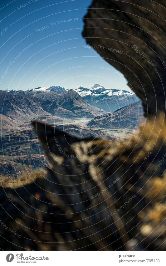 Mt. Aspiring Natur Landschaft Berge u. Gebirge Schneebedeckte Gipfel ästhetisch eckig Abenteuer Ferien & Urlaub & Reisen Neuseeland mt. aspiring Farbfoto