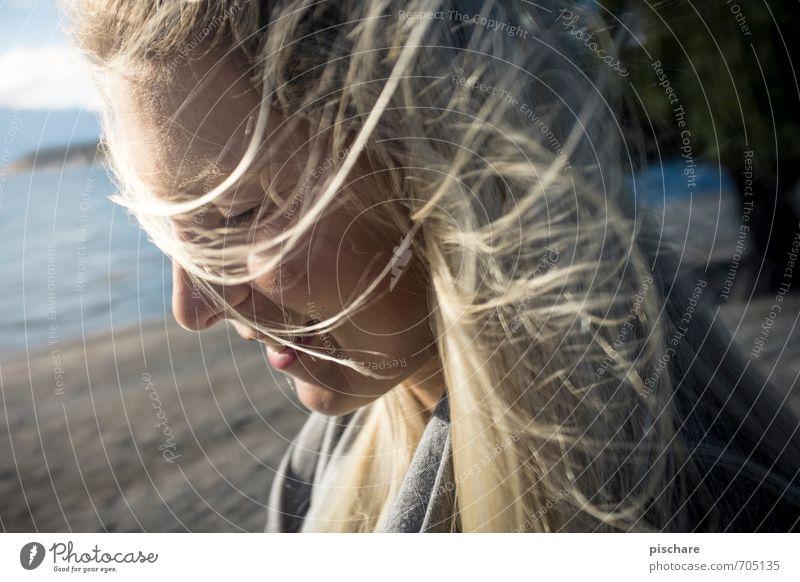 Pippo's Dream feminin Junge Frau Jugendliche Gesicht 1 Mensch blond langhaarig Lächeln ästhetisch schön Gefühle Glück Fröhlichkeit Lebensfreude Frühlingsgefühle