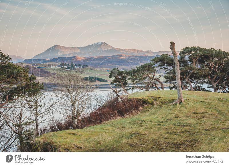 Isle of Skye VII Umwelt Natur Landschaft Wasser Himmel Schönes Wetter Hügel Berge u. Gebirge Gipfel Küste Bucht Insel ästhetisch Idylle Baum Wiese Aussicht