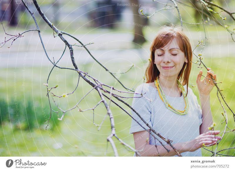 Frühlingslächeln Leben harmonisch Wohlgefühl Zufriedenheit Sinnesorgane Erholung ruhig Meditation Duft Freizeit & Hobby Ferien & Urlaub & Reisen Ausflug Mensch