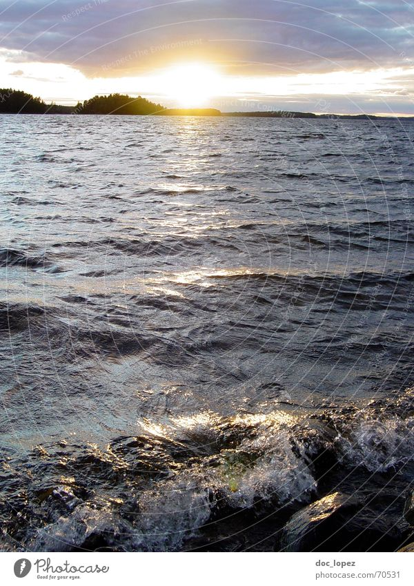 Crystal Lake_theBigOne Wasser Himmel Sonne Ferien & Urlaub & Reisen ruhig Wolken Ferne See Wärme Landschaft Wellen Küste glänzend groß Insel Abenddämmerung