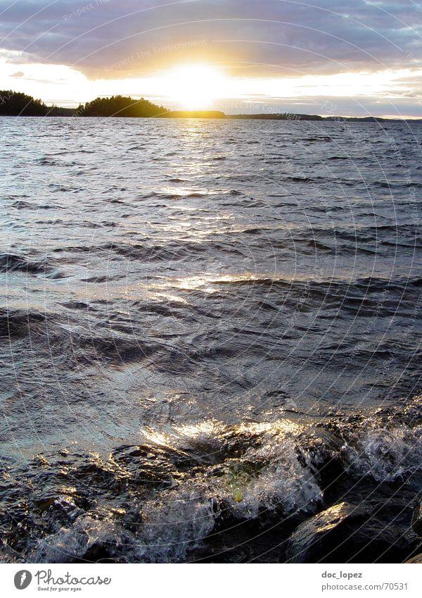 Crystal Lake_theBigOne zuletzt nehmen bestätigen See Wellen blenden Sonnenuntergang Ferne Wellengang Abenddämmerung Wolken Panorama (Aussicht) Gischt Schaum
