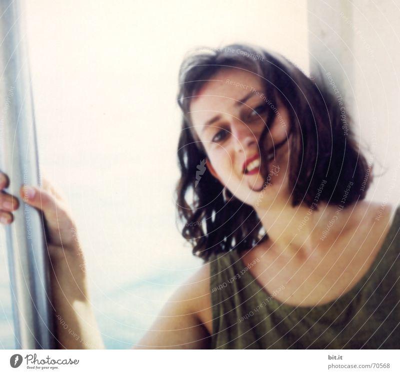 Seekrank, bloß nicht... Mensch Frau Ferien & Urlaub & Reisen Jugendliche schön Sommer Junge Frau Erholung Freude 18-30 Jahre Gesicht Erwachsene Leben Frühling feminin Glück