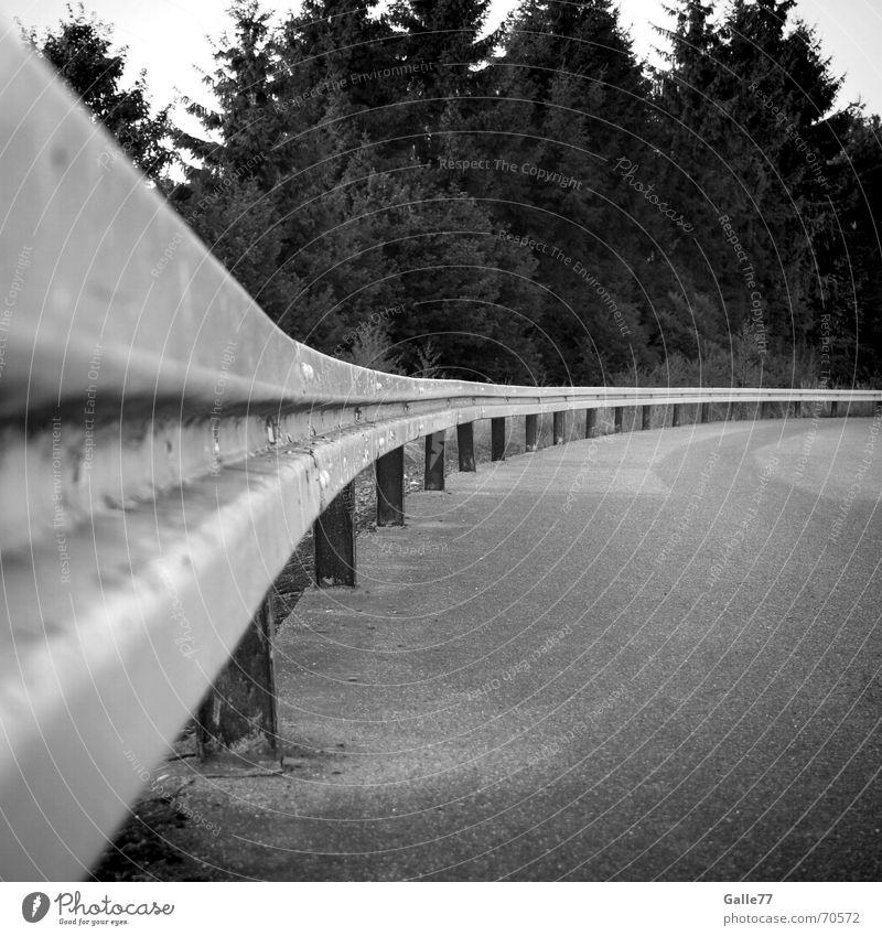 verfahren ausgeschlossen Straße Wege & Pfade Perspektive Schutz Stahl Kurve Leitplanke