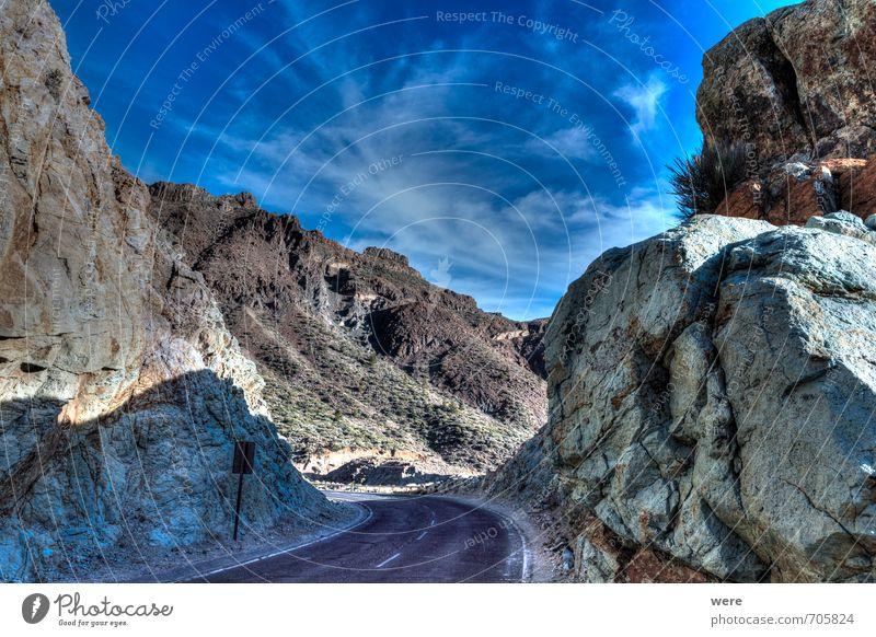 Caldera de las Cañadas Himmel Natur Ferien & Urlaub & Reisen Pflanze Einsamkeit Landschaft ruhig Berge u. Gebirge Umwelt Tourismus Erde Ausflug Abenteuer