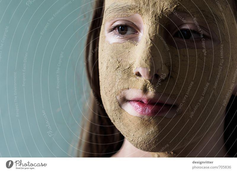 Erde zu Erde schön Körperpflege Kosmetik Schminke Gesichtsmaske Heilerde Therapie Reinigen Wellness Kur feminin Kind Mädchen Haut Auge Nase Mund 1 Mensch