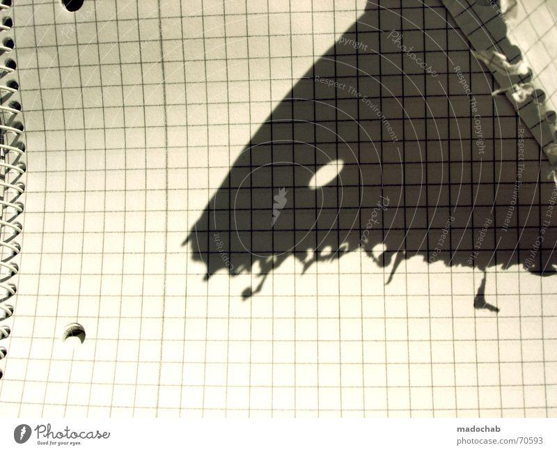 PAPIERMONSTER   schatten shadow gesicht auge portrait face Schatten Freude Auge Papier Grafik u. Illustration Kreativität Idee abstrakt Loch Karton trashig kariert Spirale Fantasygeschichte Monster gestalten