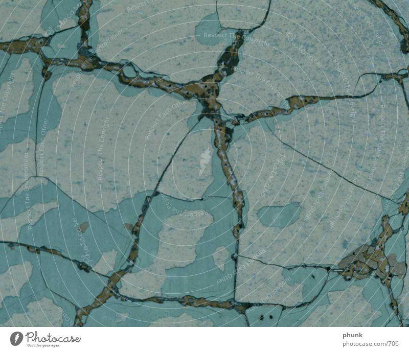 Steinboden Bodenbelag blau Riss