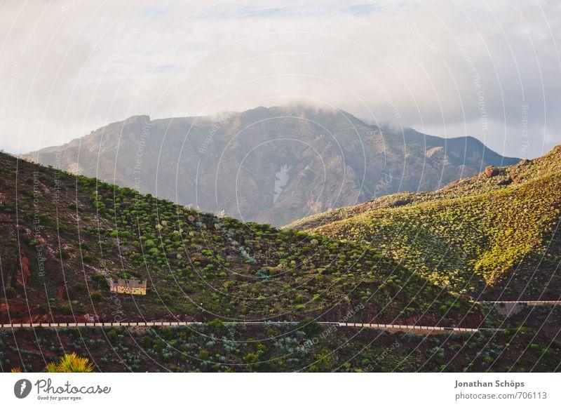 San Andrés / Teneriffa XXVII Natur Ferien & Urlaub & Reisen grün Erholung Landschaft Wolken Umwelt Berge u. Gebirge Wärme Straße Küste Felsen Sträucher wandern