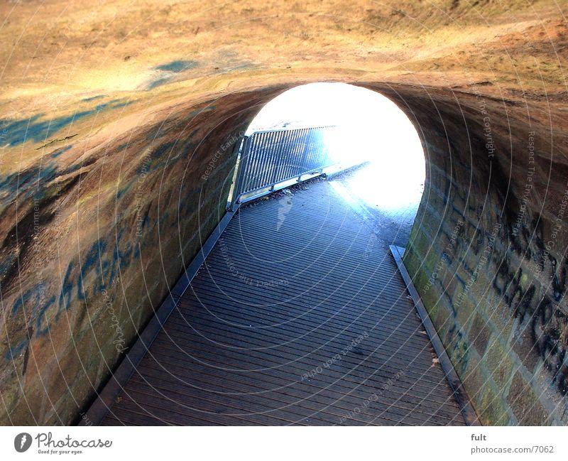 Tunnel Bürgersteig Sandstein Holz Architektur Stein