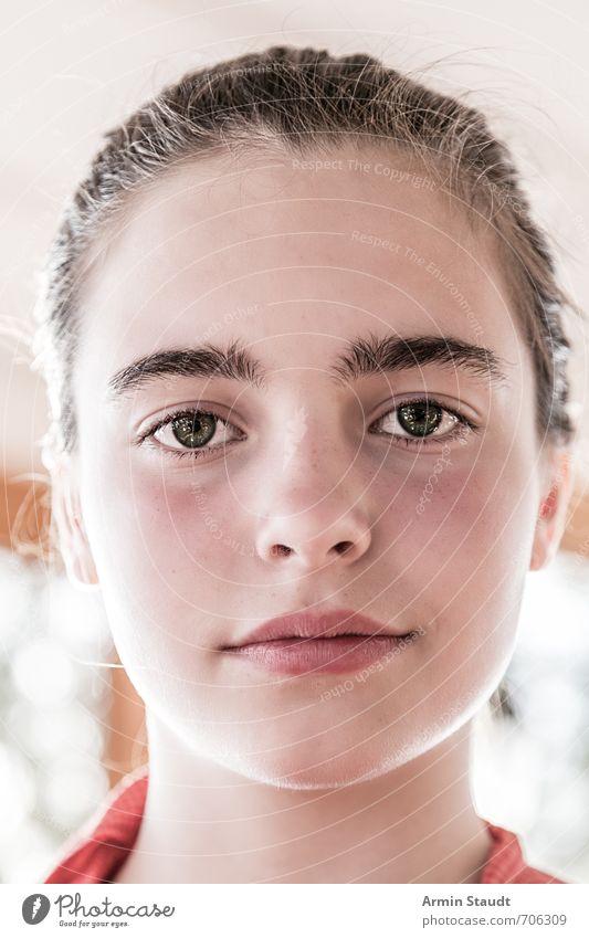 Porträt Mensch Kind Jugendliche schön ruhig Gesicht Gefühle feminin Stimmung Zufriedenheit 13-18 Jahre authentisch Lächeln Freundlichkeit einzigartig Gelassenheit