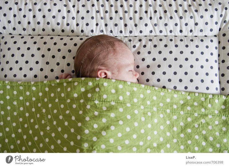 ... Kind Baby Leben Kopf Haare & Frisuren Gesicht Ohr Nase 1 Mensch 0-12 Monate liegen schlafen frisch Gesundheit Glück niedlich grün weiß Schutz Geborgenheit