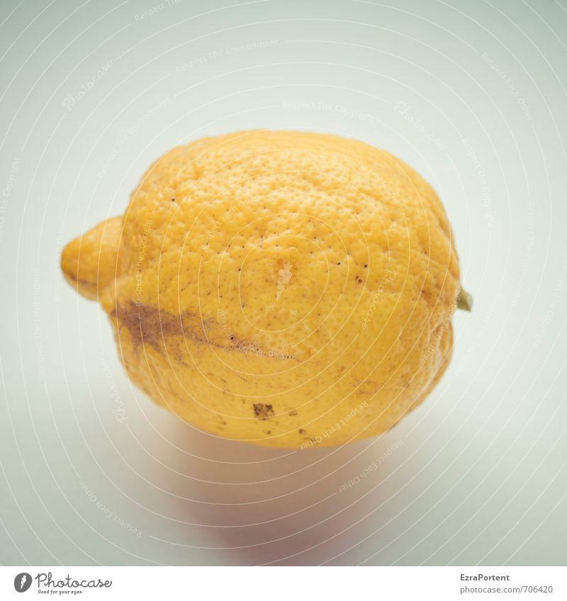 sauer? Lebensmittel Frucht Ernährung Bioprodukte Vegetarische Ernährung Umwelt Natur Pflanze blau gelb Zitrone Zitrusfrüchte fruchtig zitronengelb