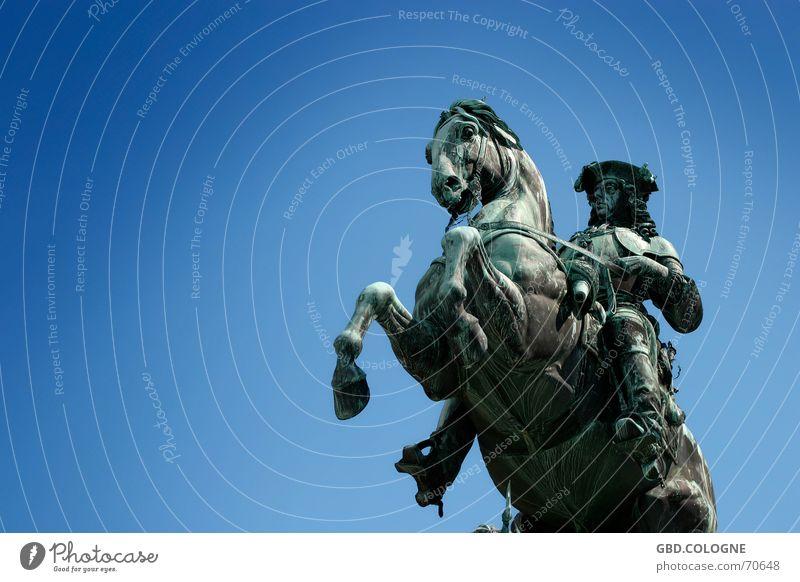 Hofburg Wien alt blau Kunst Pferd Denkmal Schönes Wetter antik Blauer Himmel Sehenswürdigkeit