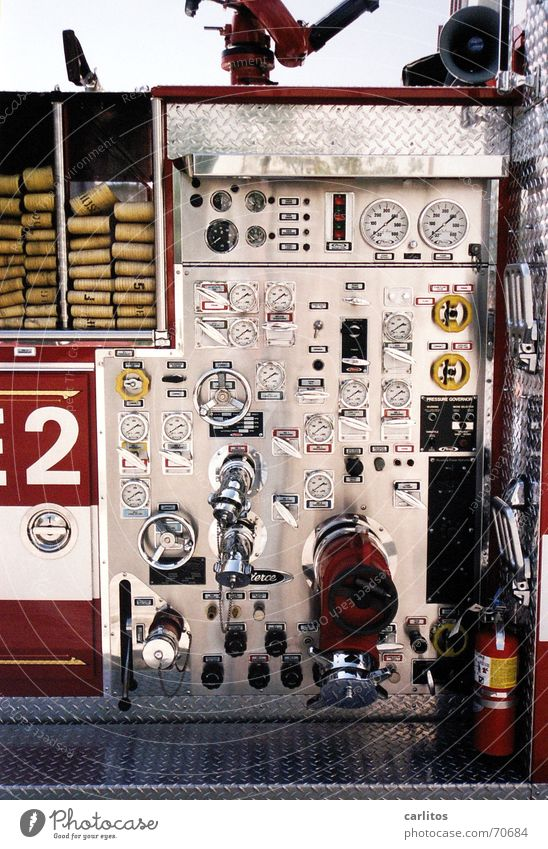 Beverly Hills Fire Department Kalifornien Los Angeles Regler Armaturenbrett 2 USA fire department Feuerwehr Musikinstrument eddie murphy  war nicht da