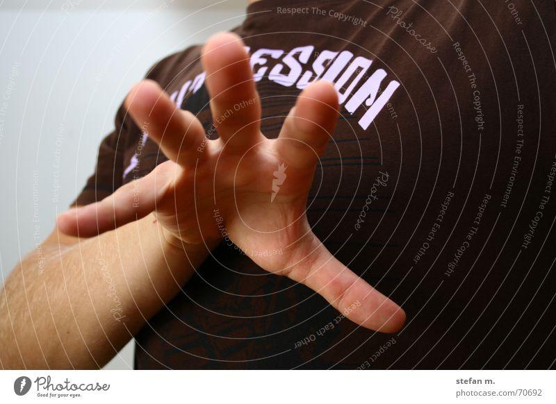 magic Hand Arme Finger fangen Verkehrswege Zauberei u. Magie Handfläche