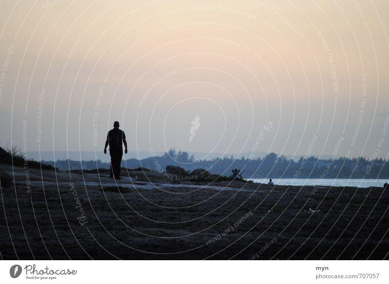 Havanna II Mensch Ferien & Urlaub & Reisen Mann Himmel (Jenseits) Meer Erholung Einsamkeit ruhig Ferne Strand Erwachsene Traurigkeit Küste Freiheit Stimmung