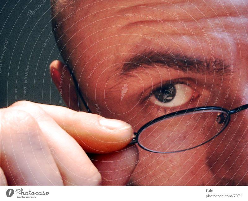 Isch Gucke Mann Auge Brille Stirn