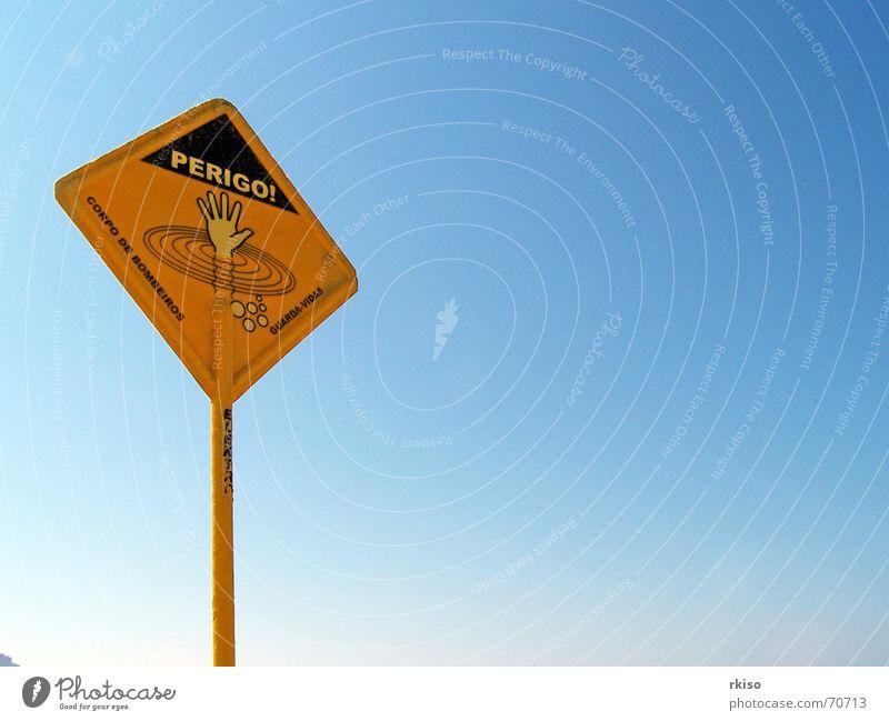 Danger in Brazilian beach Himmel Strand gelb Sicherheit Länder Brasilien