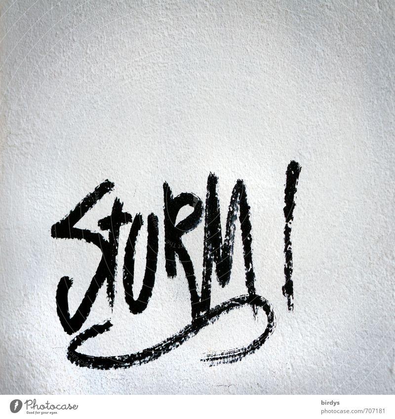 ...im Wasserglas weiß schwarz Wand Graffiti außergewöhnlich Kraft Schriftzeichen ästhetisch Energie Jugendkultur Sturm Straßenkunst Wetter
