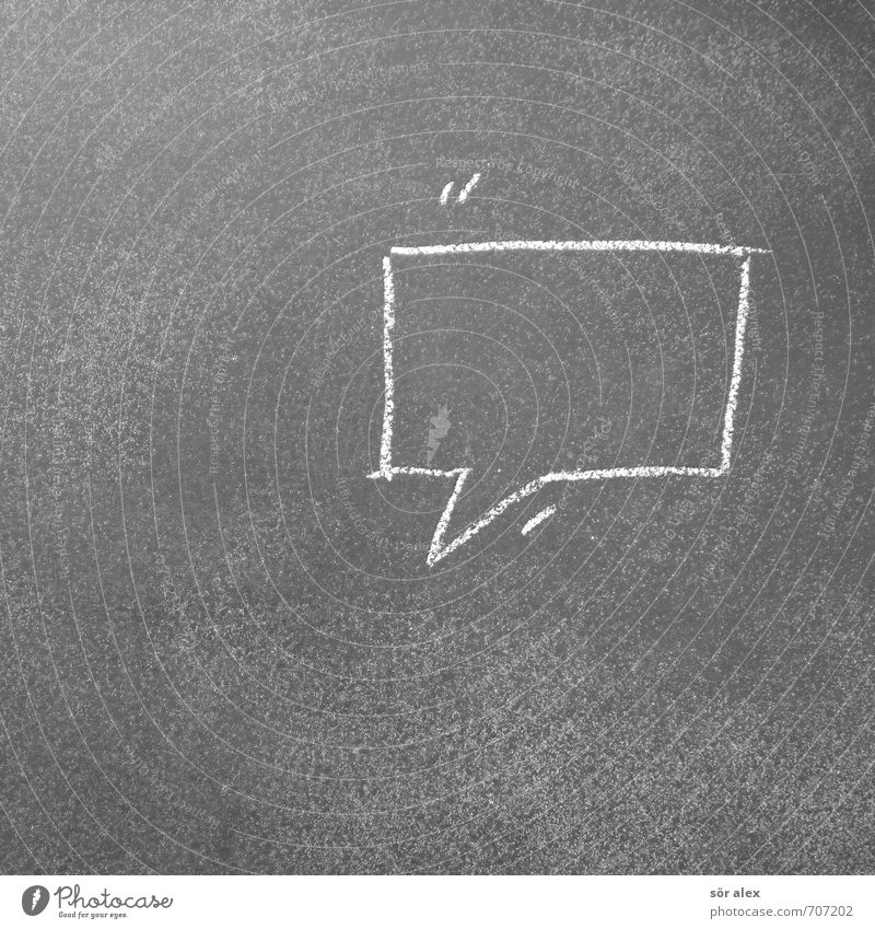 Erst denken, dann ... sprechen Denken Business Textfreiraum Erfolg Kommunizieren Telekommunikation Information Team Sitzung Dienstleistungsgewerbe Wort Tafel Werbebranche Kreide E-Mail