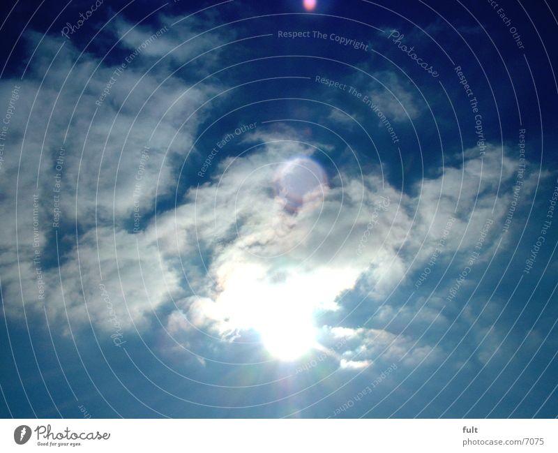 Wolken Sonne Himmel blau