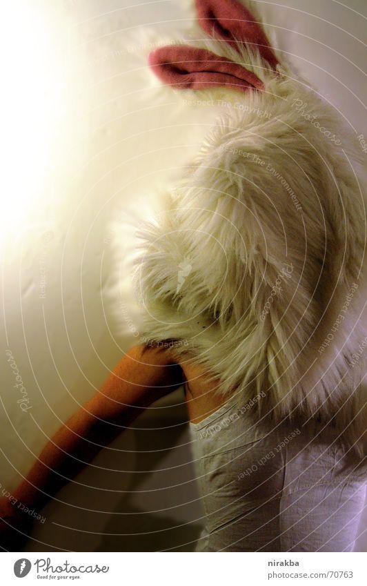 Huch, ein Hasending Frau weiß Ohr Maske verstecken Hase & Kaninchen Karnevalskostüm