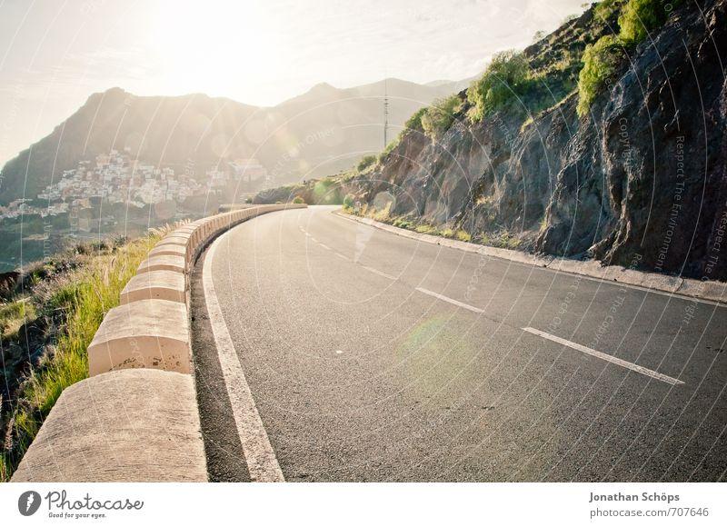 San Andrés / Teneriffa XXX Natur Landschaft Felsen Berge u. Gebirge Gipfel Küste Bucht Meer Insel ästhetisch Verkehrswege Straßenverkehr Straßenrand Kurve