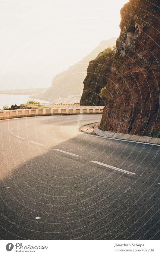 San Andrés / Teneriffa XVIII Natur Landschaft Umwelt Berge u. Gebirge Straße Reisefotografie Küste Felsen Verkehr gefährlich Geschwindigkeit ästhetisch
