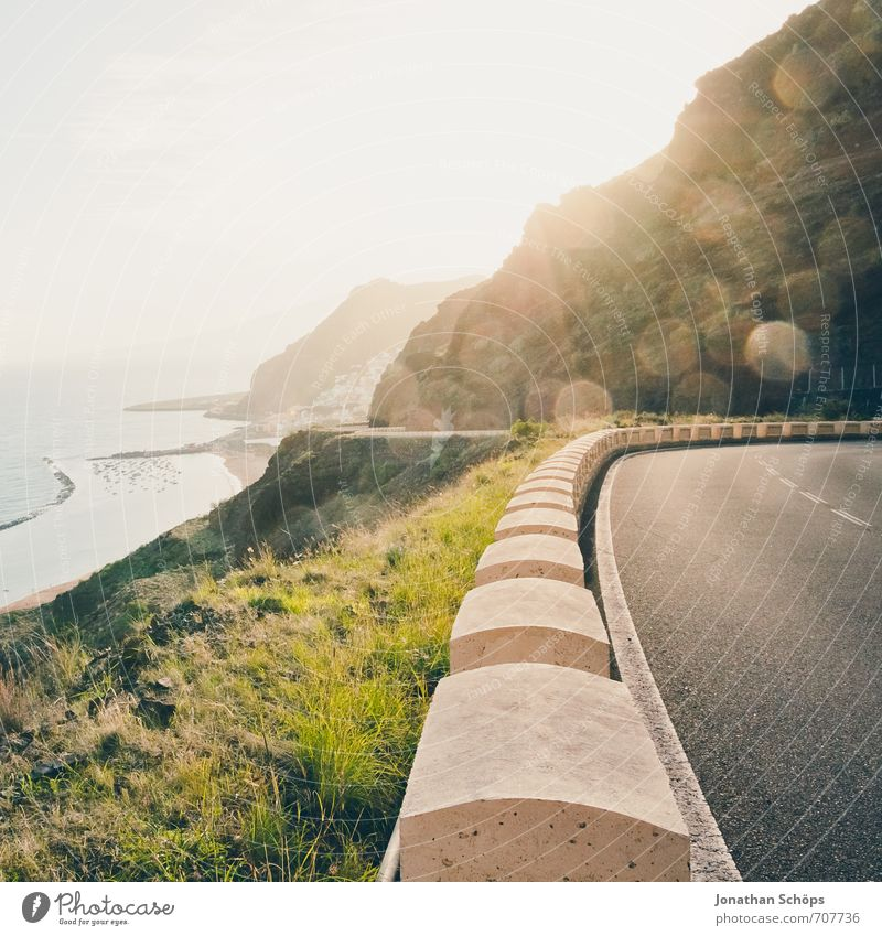 San Andrés / Teneriffa XXVIX Umwelt Natur Landschaft Felsen Berge u. Gebirge Gipfel Küste Bucht Meer Insel ästhetisch Verkehrswege Straßenverkehr Straßenrand