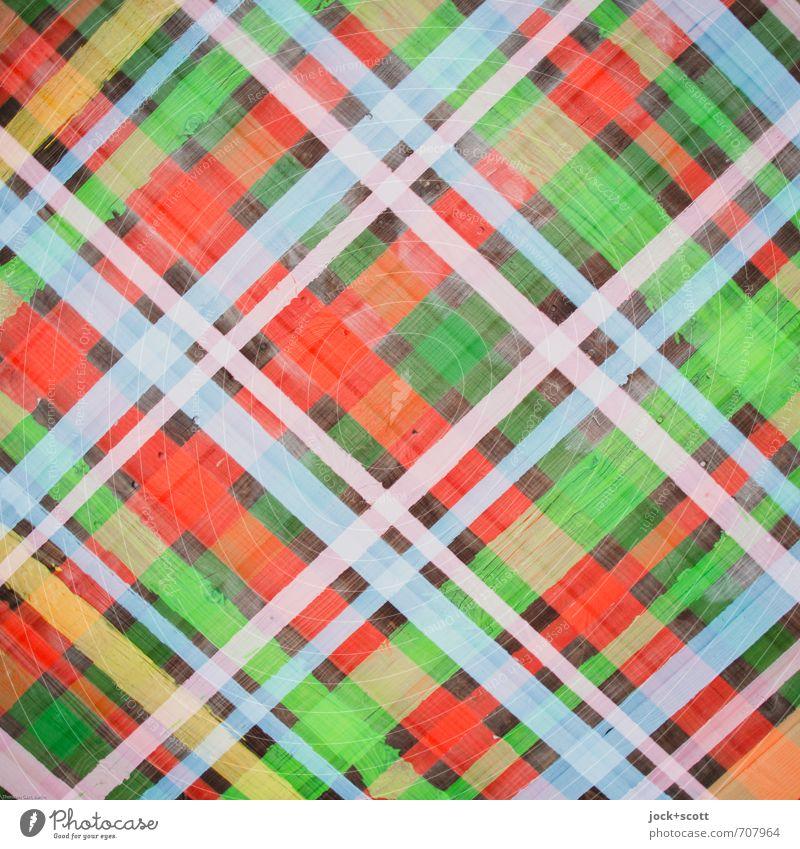 Karoitis Stil Design Ambiente Subkultur Straßenkunst Krimskrams Holzbrett Kreuz Linie Streifen eckig viele Kreativität Netzwerk Irritation kariert
