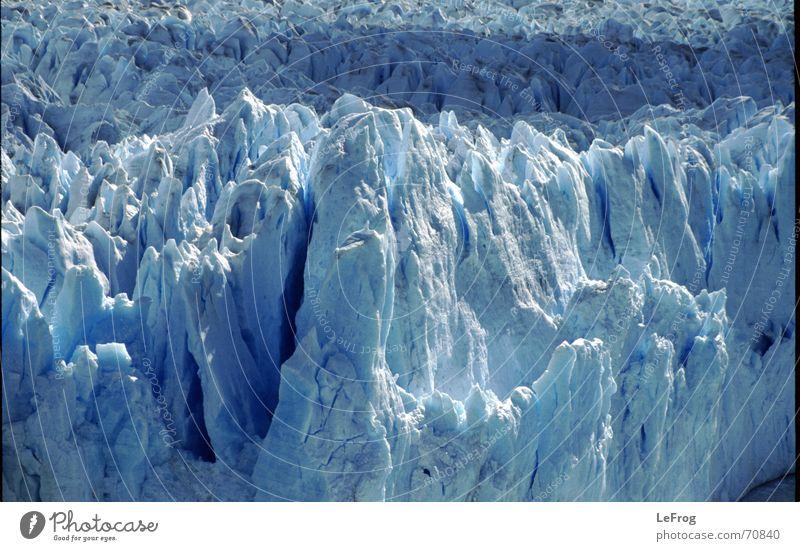 eiskalt blau Berge u. Gebirge Eis gebrochen Chile schmelzen