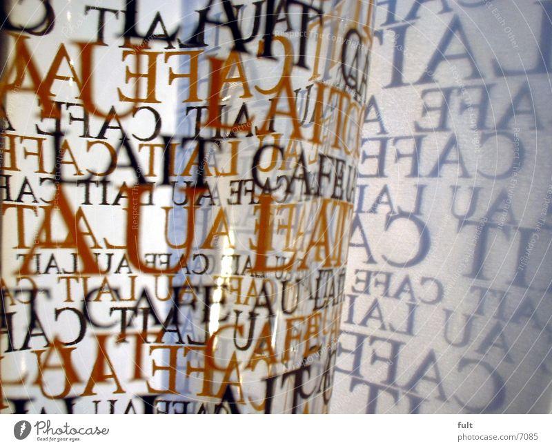 latte Latte Macchiato Typographie Papier Dinge Schriftzeichen