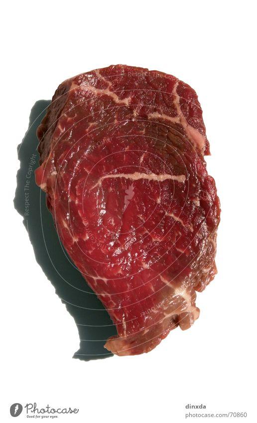 Gruß an alle Vegetarier rot Ernährung Tier Lebensmittel Rindfleisch Blut Fleisch Schwein Rind roh Steak