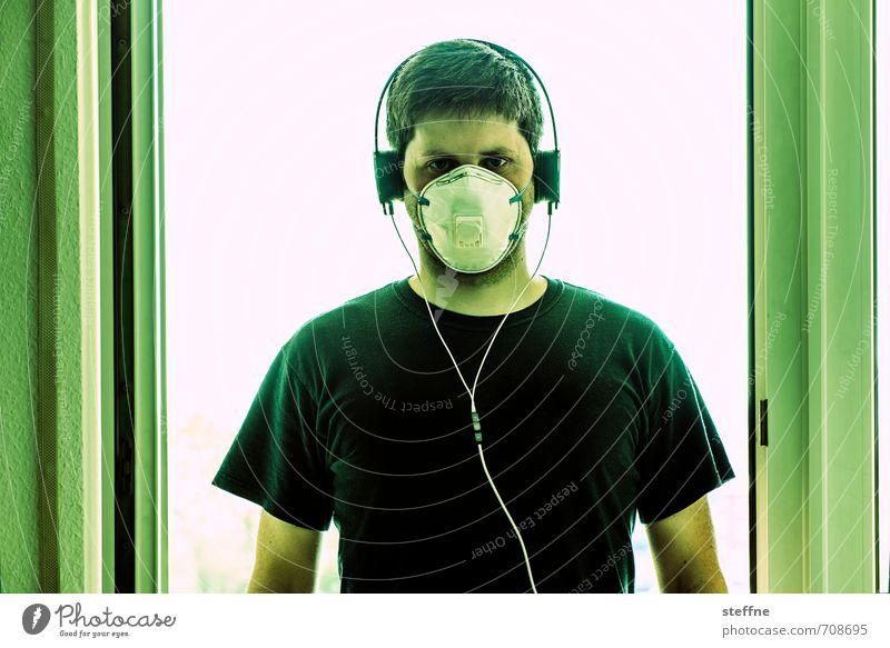 Mortal Kombat Mensch maskulin Junger Mann Jugendliche 1 18-30 Jahre Erwachsene 30-45 Jahre trashig skurril Maske Atemschutzmaske Kopfhörer Kabel mortal kombat