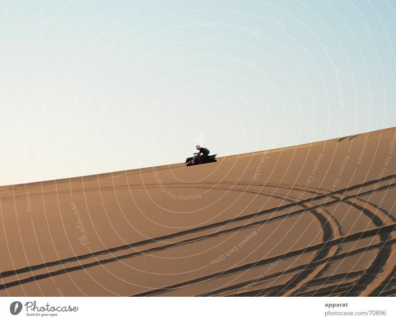 Spuren im Sand Freiheit Sand Wüste Namibia