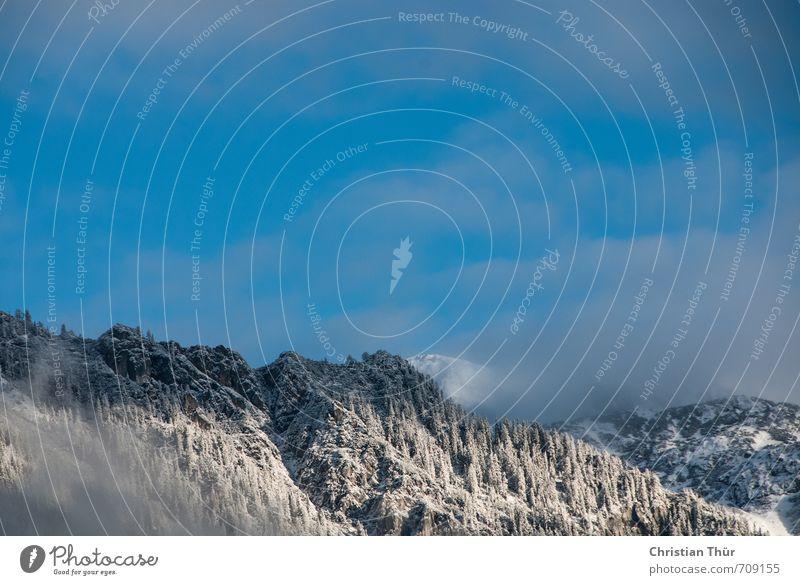 Letzter Schnee Himmel Natur blau Landschaft Wolken Winter Umwelt Berge u. Gebirge grau Glück Stimmung Felsen Luft Schneefall Eis