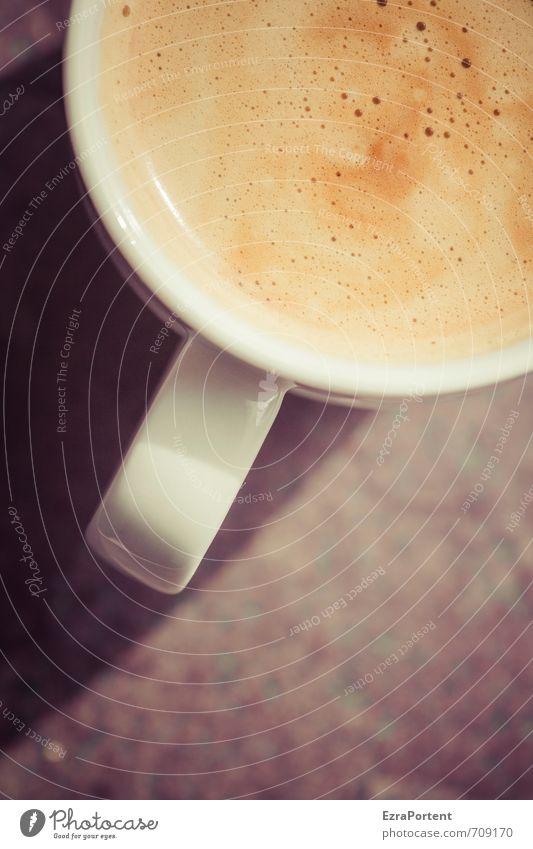Kaeffchen? Lebensmittel Ernährung Frühstück Kaffeetrinken Getränk Heißgetränk Geschirr Tasse ästhetisch lecker stark Wärme braun gelb gold orange weiß Crema
