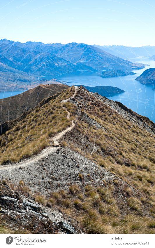 The Long Walk Home Umwelt Natur Landschaft Pflanze Urelemente Erde Himmel Wolkenloser Himmel Horizont Herbst Schönes Wetter Wärme Gras Felsen Alpen