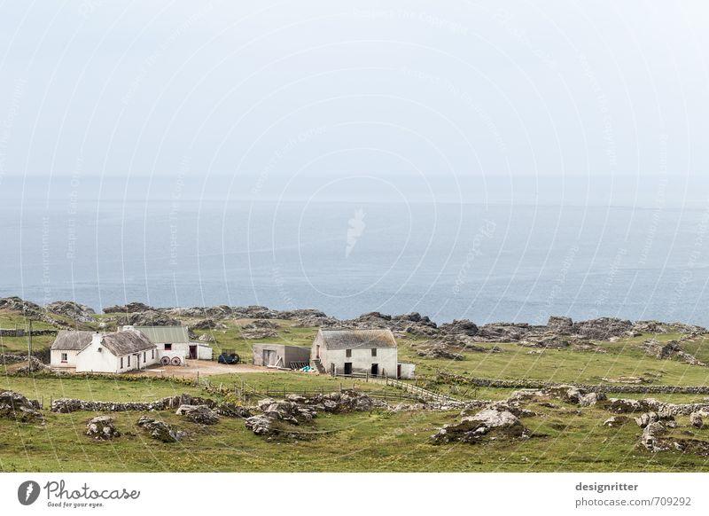 Am friedlichen Ende der Welt Natur Meer Erholung Einsamkeit ruhig Haus Ferne Umwelt Wiese Gras Küste Freiheit Felsen Horizont Zufriedenheit Feld