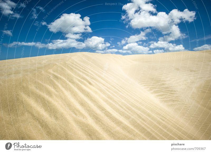 Sandig Himmel Landschaft Wolken trist Schönes Wetter Abenteuer trocken Wüste Düne Neuseeland