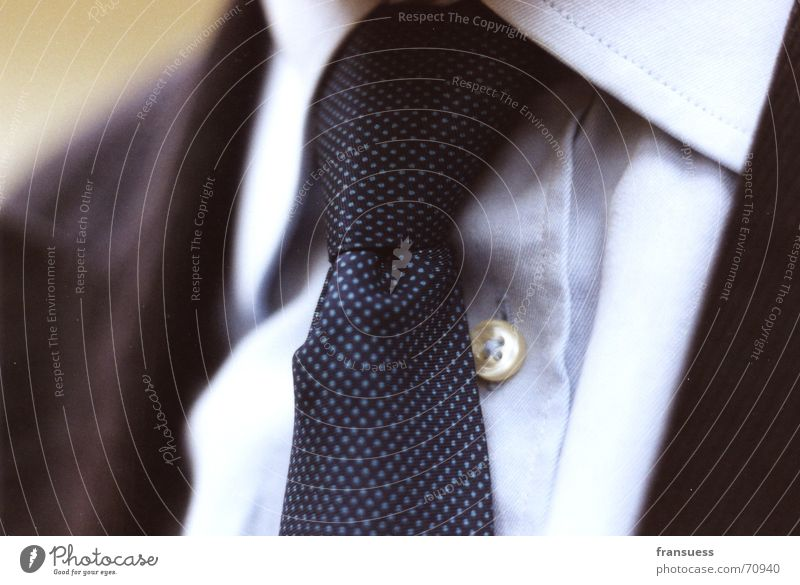 herrenbesuch Mann blau Ordnung maskulin Jacke Hemd fein Krawatte ausgehen Management