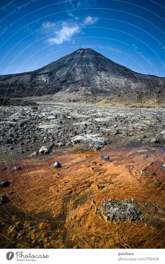 Mt Doom Natur Landschaft Urelemente Wasser Schönes Wetter Vulkan außergewöhnlich eckig gigantisch Abenteuer Ferien & Urlaub & Reisen Neuseeland tongariro