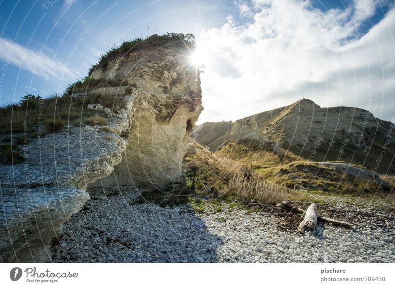 Sonne Natur Landschaft Sonnenlicht Schönes Wetter Felsen Küste natürlich schön Kaikoura Neuseeland Farbfoto Außenaufnahme Tag Licht Gegenlicht